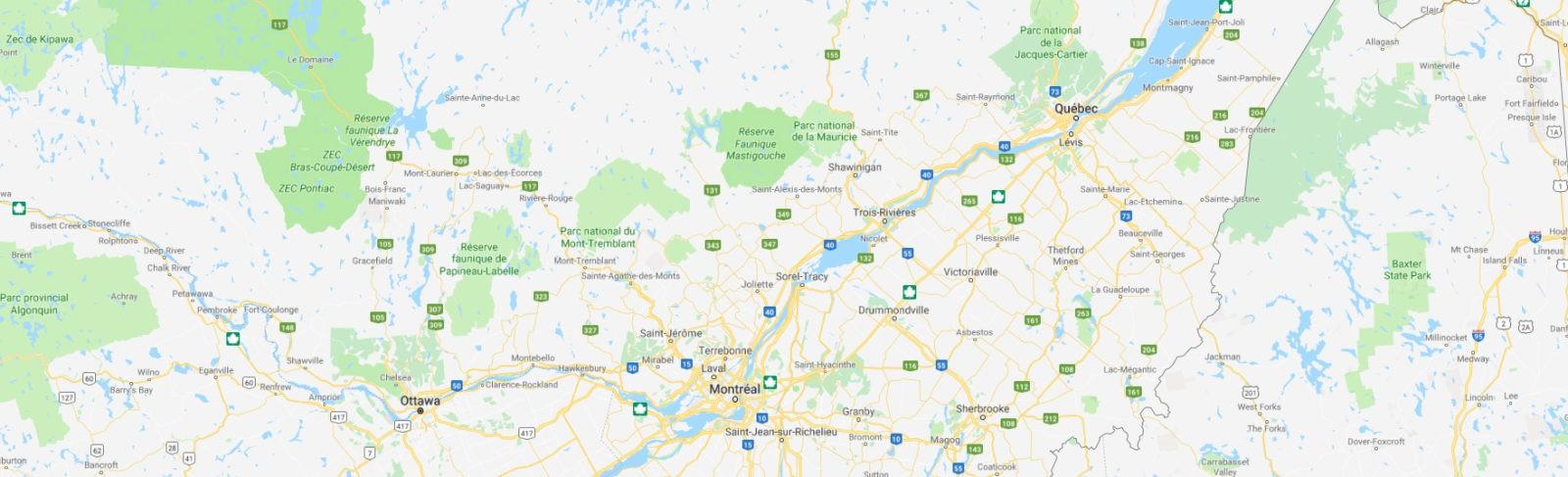 SCR Télécom offre ses services partout dans la province du Québec
